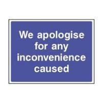 we apologize
